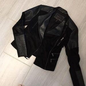 BCBG Mac Azria leather/suede jacket